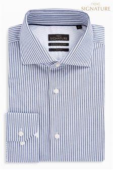 Stripe Signature Egyptian Cotton Slim Fit Shirt