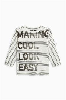 Long Sleeve Slogan T-Shirt (3mths-6yrs)