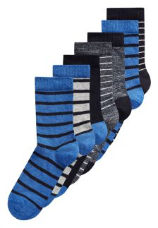 Stripe Socks Seven Pack (Older Boys)
