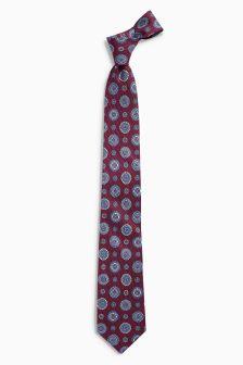 Signature Printed Italian Silk Patterned Tie