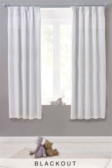 Baby Luxe Waffle Blackout Pencil Pleat Curtains