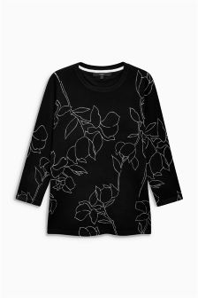 Abstract Floral Sweater
