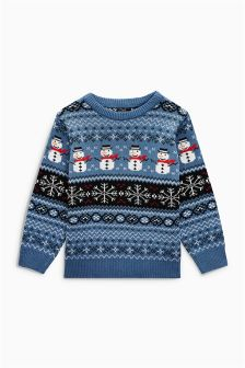 Snowman Fairisle Jumper (3mths-6yrs)