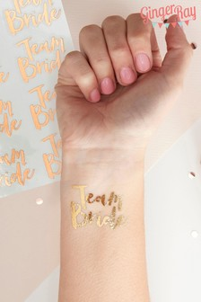 Ginger Ray Gold Team Bride Temporary Tattoos