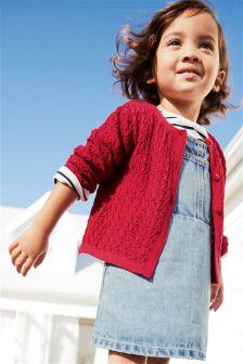 网眼布开衫 (3个月-6岁)