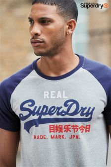 Superdry Navy/Grey Raglan T-Shirt