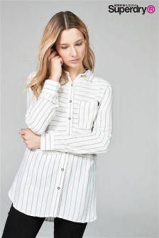 Superdry Cream Multi Stripe Shirt