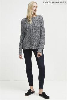 Зауженные джинсы с выбеленным эффектом French Connection