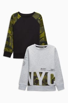 Sweat Tops Two Pack (3-16yrs)