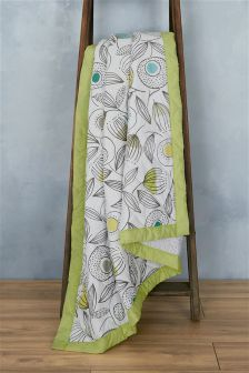Dandelion Leaf Quilted Throw