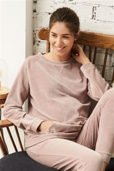 Maternity Velour Lounge Top