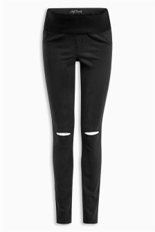 Maternity Slash Knee Skinny Jeans