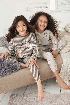 Cat Legging Pyjamas Two Pack (3-16yrs)