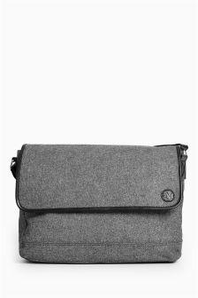 Сумка-портфель с узором «елочка»