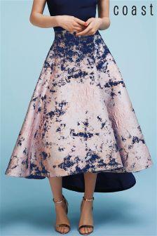 Coast Pink Azure Marble Jacquard Skirt