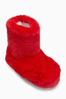 Faux Fur Slipper Boots (Younger Girls)