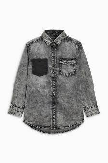 Long Sleeve Distressed Denim Shirt (3-16yrs)