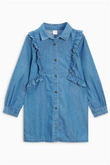 Ruffle Longline Shirt (3-16yrs)