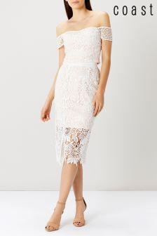 Coast Ivory Melva Lace Skirt
