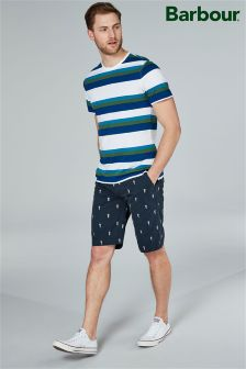 Barbour® Navy Jellyfish Embroidered Short