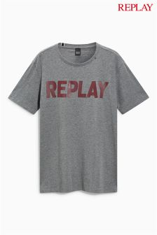 Replay® Grey Logo T-Shirt