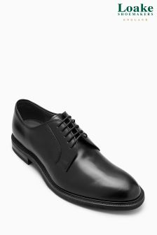 Loake Black Ghost Derby Shoe