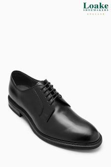 Loake Black Ghost Derby Shoe