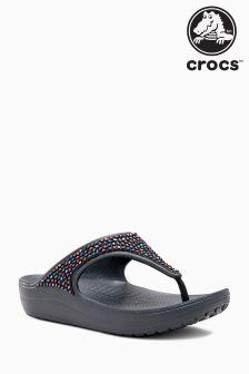 Crocs™ Black Sloane Embellished Flip Flop