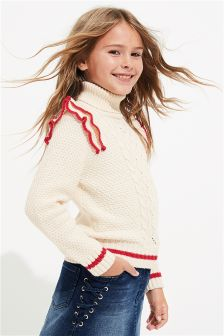 Tipped Roll Neck (3-16yrs)