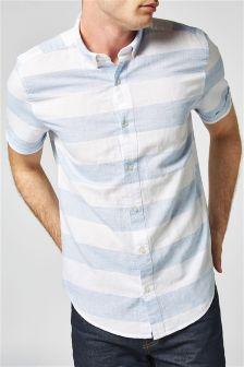 Horizontal Stripe Short Sleeve Shirt