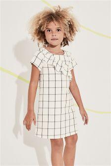 Check Ruffle Dress (3-16yrs)