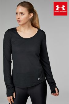 Under Armour Black Threadborne Streaker Long Sleeve Tee