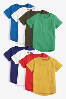 Short Sleeve Essential T-Shirts Eight Pack (3mths-6yrs)