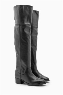 Premium Leather Over The Knee Boots