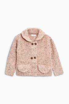 Fluffy Knit Jacket (3mths-6yrs)