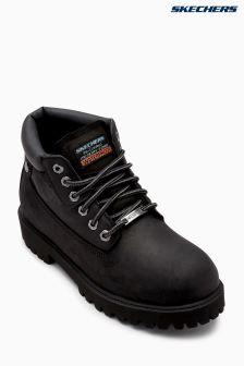 Skechers® Black Waterproof Padded Collar Boot