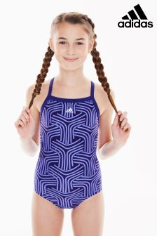 adidas Blue Print Swimsuit