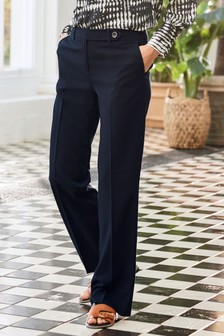 Navy Slouch Trousers