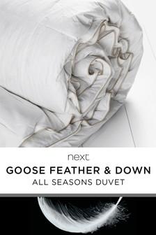 Decke aus Gänsefedern und -daunen fürs ganze Jahr, 15 Tog
