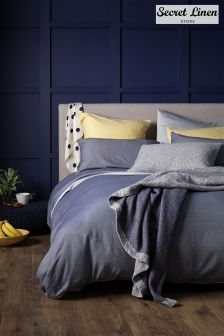 Secret Linen Store Brushed Effect Duvet Cover