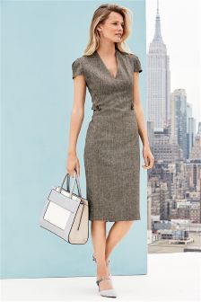 Textured Tailored Dress