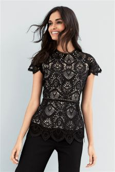 Lace Structured Top
