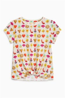 Emoji All Over Print Short Sleeve T-Shirt (3-16yrs)