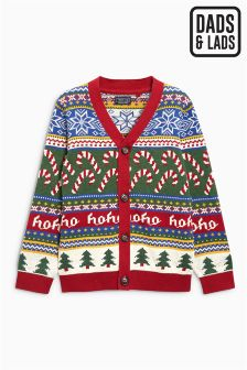 Boys Christmas Candy Cane Cardigan (3-16yrs)