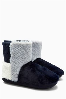 Patch Boot Slippers