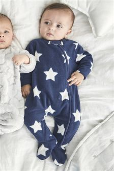 Star Fleece Sleepsuit (0mths-3yrs)