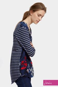 Joules Navy Floral Beatrice Top
