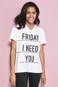 Friday Slogan Tee