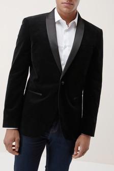 Коллекционный бархатный смокинг-пиджак приталенного кроя