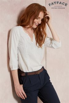 Fat Face Ivory Phoebe Broderie Popover Shirt